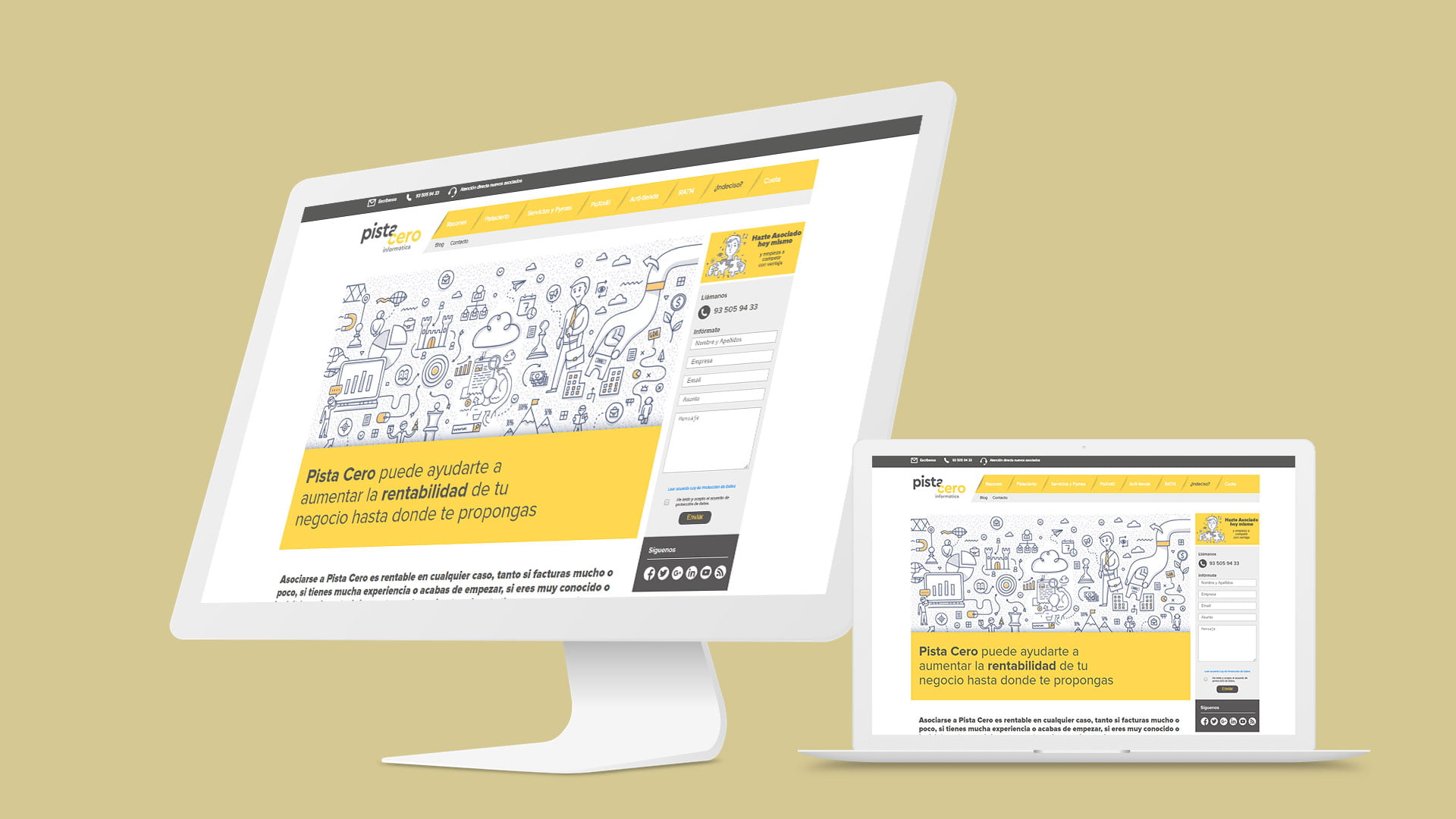 Diseño web Pista Cero
